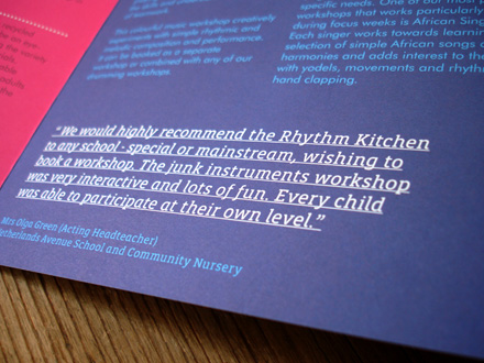 Rhythm Kitchen brochure