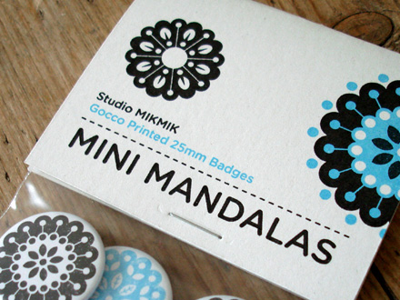 Mini Mandala badge set